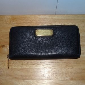 Marc by Marc Jacobs Black Pebble Leather Wallet